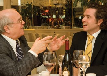 The father and son team behind the San Carlo success story - Carlo Distefano (left) with son Marcello in their Manchester restaurant (pictured top), where weekly takings range between £140,000 and £170,0000.