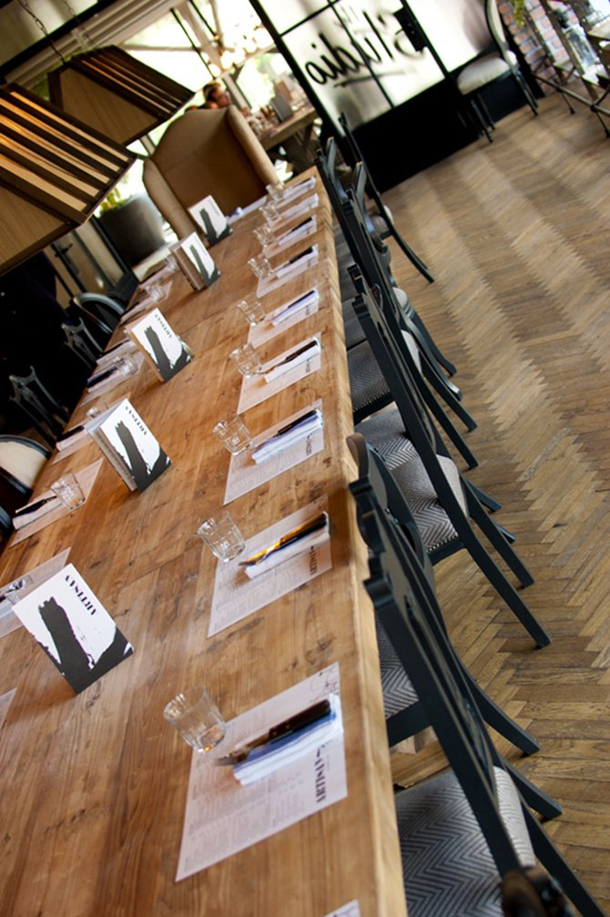 Artisan long table