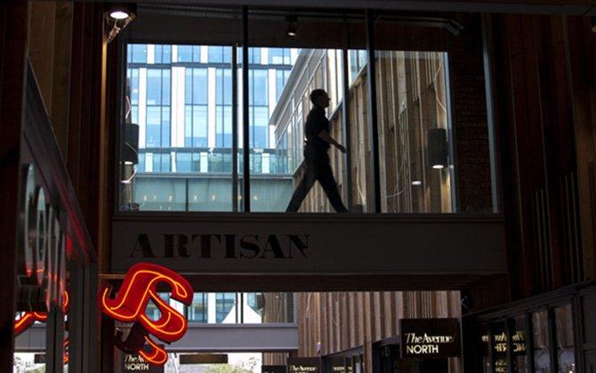 Artisan man walking